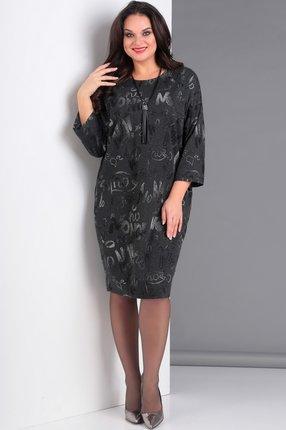 Купить Платье Jurimex 1910 темно-серый, Платья, 1910, темно-серый, полиэстер – 60%, люрекс – 20%, вискоза – 15%, спандекс – 5%, Мультисезон