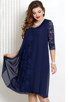 Купить со скидкой Платье Vittoria Queen 9043/3 темно-синий