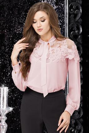 Купить Блузка LeNata 11883 розовый с пудрой, Блузки, 11883, розовый с пудрой, 100% ПЭ, Лето