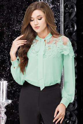 Купить Блузка LeNata 11883 мятный, Блузки, 11883, мятный, 100% ПЭ, Лето