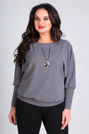 Купить Блузка Таир-Гранд 62326 серый, Блузки, 62326, серый, Состав: пэ 96%, спандекс 4%, Мультисезон