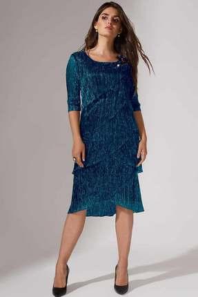 Купить Платье Erika Style 714 морская волна , Платья, 714, морская волна , вискоза 72%, ПЭ 25%, спандекс 3%, Мультисезон