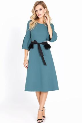 Купить Платье PIRS 566 бирюзовый, Платья, 566, бирюзовый, Состав: 66% полиэстер 30% вискоза 4% эластан, Мультисезон