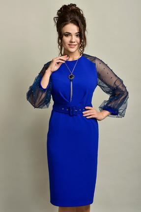 Купить Платье Solomeya Lux 535 василек, Вечерние платья, 535, василек, Трикотаж полиэстер-58%, вискоза-38%, эластан-4%., Мультисезон