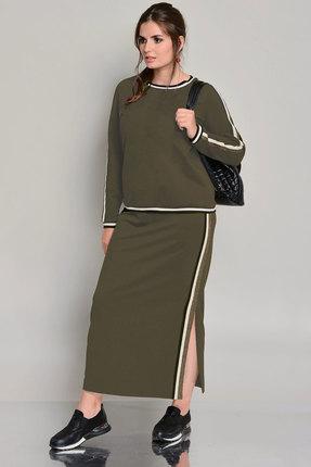 Комплект юбочный Faufilure с744н хаки