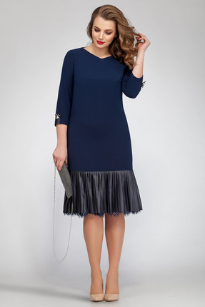 Купить Платье Магия Моды 1544 темно синий, Платья, 1544, темно синий, ПЭ 50%, вискоза 48%, эластан 2%, Мультисезон