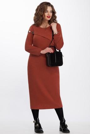 Купить Платье TEZA 110 терракот, Повседневные платья, 110, терракот, 70% полиэстр 20% шерсть 10% вискоза, Мультисезон