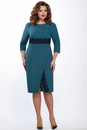 Купить Платье TEZA 122 бирюзовый, Платья, 122, бирюзовый, 20% вискоза 76% полиэстр 4% эластан, Мультисезон