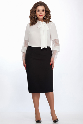 Купить Комплект юбочный TEZA 135 черно белый, Юбочные, 135, черно белый, 20% вискоза 80% полиэстр; 76% полиэстр 20% вискоза 4% эластан, Мультисезон