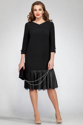 Купить Платье Магия Моды 1544 черный, Платья, 1544, черный, ПЭ 50%, вискоза 48%, эластан 2%, Мультисезон