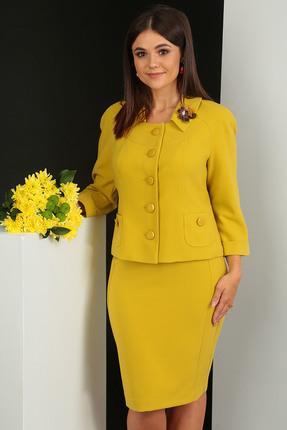Комплект юбочный Мода-Юрс 2249-1 светлая горчица