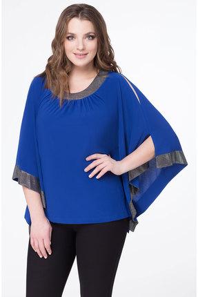 Блузка Дали 552 синий с серебром