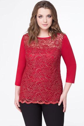 Купить Блузка Дали 5316 красный, Блузки, 5316, красный, вискоза 48%, пэ 47%, спандекс 5%, Мультисезон
