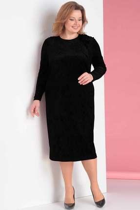Купить Платье Новелла Шарм 3152 черный, Платья, 3152, черный, Бархат, Мультисезон