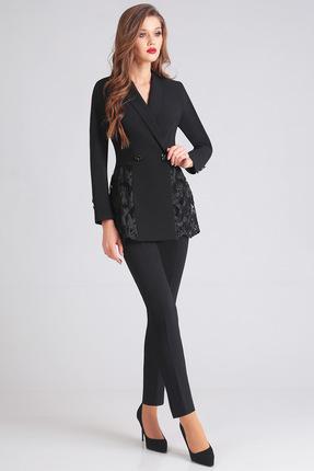 Купить Комплект брючный Denissa Fashion 1205 черный, Брючные, 1205, черный, 71% ПЭ, 23% вискоза, 6% спандекс, Мультисезон