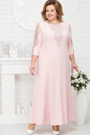 Купить Платье Ninele 5682 пудра , Платья, 5682, пудра , Полиэстер 95%, Спандекс 5%, Кружево ПЭ 100%, Мультисезон