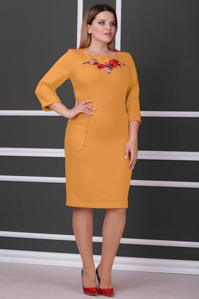 Купить Платье Michel Chic 914 горчица, Платья, 914, горчица, Состав : 96% полиэстер, 4% спандекс, Мультисезон