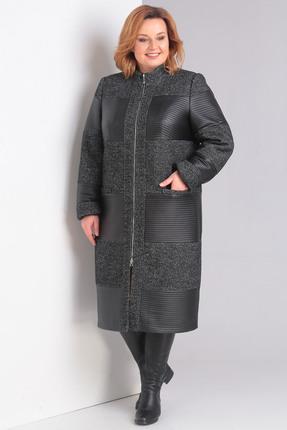 Купить со скидкой Пальто Диамант 1032 серые тона