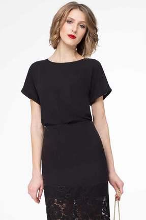 Купить Блузка Panda 425340 черный, Блузки, 425340, черный, Полиэстер 100%, Мультисезон