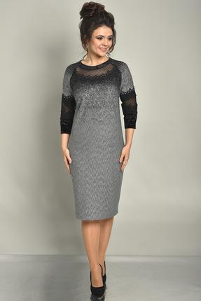 Купить Платье Solomeya Lux 540 серый, Вечерние платья, 540, серый, Трикотаж полиэстер-50%, вискоза-46%, эластан-4%, Мультисезон
