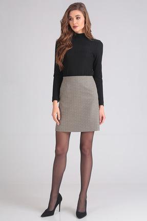 Комплект юбочный Denissa Fashion 1200-1 черный с серым