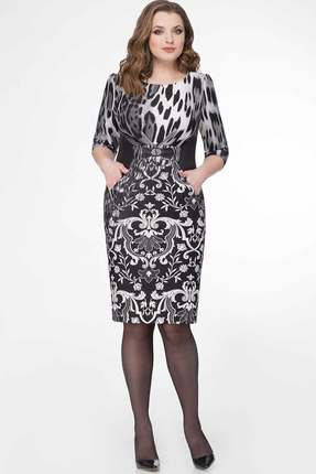 Купить Платье БелЭкспози 551 черные тона, Повседневные платья, 551, черные тона, Полиэстер 95%, спандекс 5%, Мультисезон
