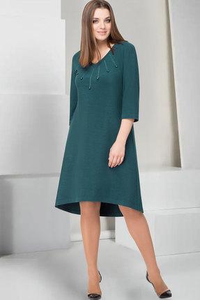 Купить Платье ТАиЕР 744 изумруд , Повседневные платья, 744, изумруд , Вискоза 85%, Полиэстер 11%, Эластан 4%, Мультисезон