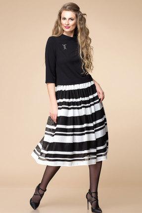 Купить Комплект юбочный Romanovich style 2-1279 черный с белым, Юбочные, 2-1279, черный с белым, Жакет: 95% ПЭ, 5% спандекс Юбка: 100% ПЭ, Мультисезон