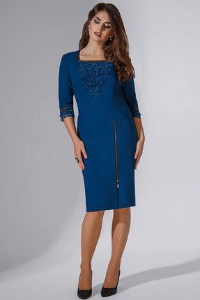 Купить Платье Erika Style 743 морская волна , Повседневные платья, 743, морская волна , вискоза 72%, ПЭ 25%, спандекс 3%, Мультисезон
