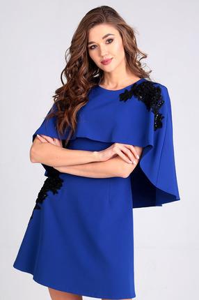 Купить Платье Таир-Гранд 6526 василек, Повседневные платья, 6526, василек, Состав: ПЭ 70%, вискоза 30%, Мультисезон