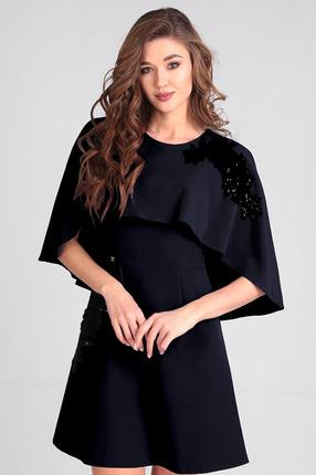 Купить Платье Таир-Гранд 6526 черный, Повседневные платья, 6526, черный, Состав: ПЭ 70%, вискоза 30%, Мультисезон