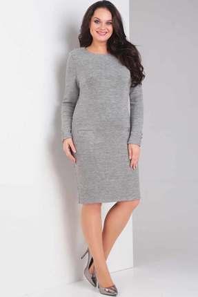 Купить Платье Милора-Стиль 352 серый, Повседневные платья, 352, серый, Вискоза 27%, полиэстер 67%, эластан 4%, спандекс 2%, Мультисезон