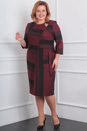 Купить Платье Milana 964 бордовый, Повседневные платья, 964, бордовый, Материал платья: Костюмно-плательная со стрейчем (меланж). Полиэстер-30%, вискоза-68%, спандекс-2%, Мультисезон