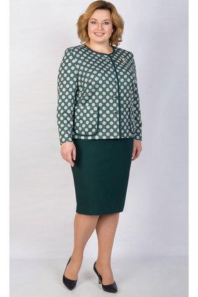 Купить Комплект юбочный TricoTex Style 1855 зеленый, Юбочные, 1855, зеленый, 70% п/э, 25% вискоза, 5% спандекс, Мультисезон