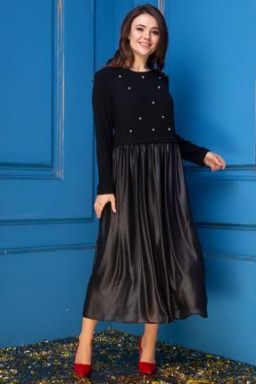 Купить Платье Anastasia 250 черный, Вечерние платья, 250, черный, Верх платья: Шерсть-70%, ПЭ -20%, Эластан-10%. Низ платья-ПЭ-100%, Мультисезон