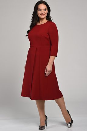 Купить Платье Lady Style Classic 1736 бордо, Повседневные платья, 1736, бордо, ПЭ 67%+Вискоза 30%+ПУ 3%, Мультисезон