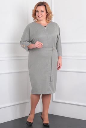 Купить Платье Milana 995 серый, Повседневные платья, 995, серый, Трикотажная со стрейчем и люрексом. Состав: ПЭ-68%, вискоза-30%, металик-2%, Мультисезон