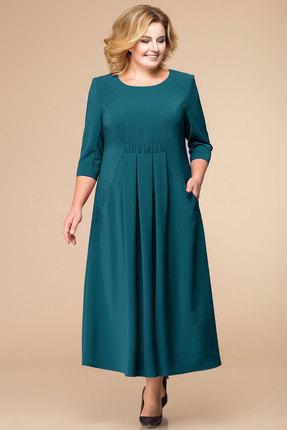 Купить Платье Romanovich style 1-1711 морская волна , Повседневные платья, 1-1711, морская волна , Текстиль (100% ПЭ), Мультисезон