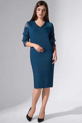 Купить Платье Erika Style 735 морская волна , Вечерние платья, 735, морская волна , вискоза 72%, ПЭ 25%, спандекс 3%, Мультисезон