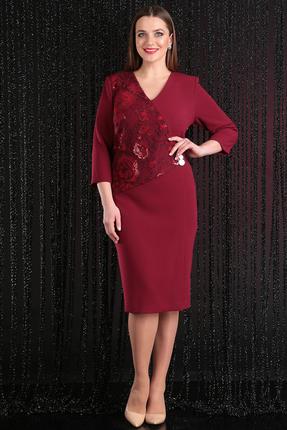 Купить со скидкой Платье Мода-Юрс 2452 бордо