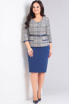 Комплект юбочный Милора-Стиль 639н синий