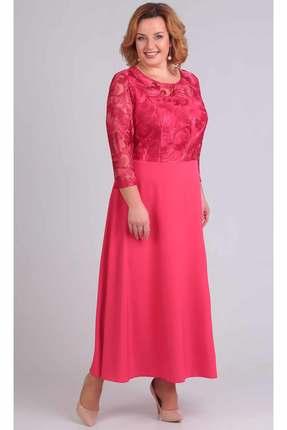 Купить Платье TricoTex Style 109-17 красные тона, Вечерние платья, 109-17, красные тона, 70% п/э, 25% вискоза, 5% спандекс, Мультисезон