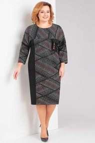 Платье Милора-Стиль 665 черный с серым