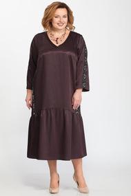 Платье Djerza 1448 темные тона