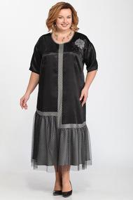 Платье Djerza 1449 черно-серый