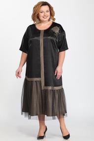 Платье Djerza 1449 черный с бежем