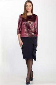 Комплект юбочный Deesses D-041 черный с розовым