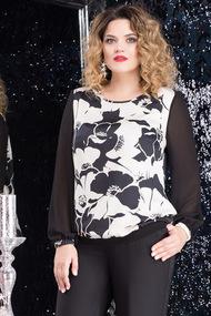 Платье LeNata 11969 черно-белый