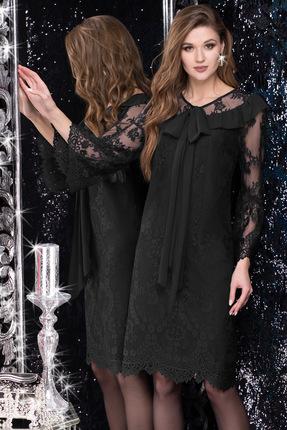 Купить Платье LeNata 11982 черный, Вечерние платья, 11982, черный, ткань гипюрное кружево 95% ПЭ, 5% спандекс, Мультисезон