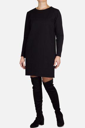 Купить Платье Mirolia 519 черный, Повседневные платья, 519, черный, ПЭ 62%+Вискоза 33%+Эластан 5%, Мультисезон